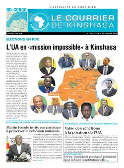 Les Dépêches de Brazzaville : Édition le courrier de kinshasa du 21 janvier 2019