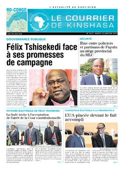 Les Dépêches de Brazzaville : Édition le courrier de kinshasa du 22 janvier 2019