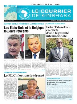 Les Dépêches de Brazzaville : Édition le courrier de kinshasa du 23 janvier 2019