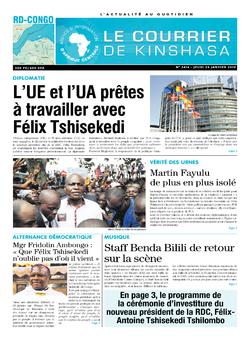 Les Dépêches de Brazzaville : Édition le courrier de kinshasa du 24 janvier 2019
