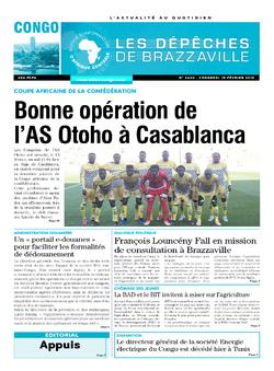 Les Dépêches de Brazzaville : Édition brazzaville du 15 février 2019