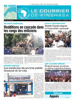 Les Dépêches de Brazzaville : Édition le courrier de kinshasa du 15 février 2019