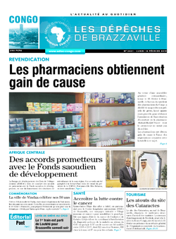 Les Dépêches de Brazzaville : Édition brazzaville du 18 février 2019