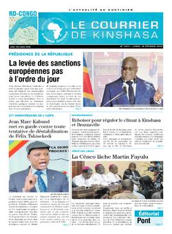 Les Dépêches de Brazzaville : Édition le courrier de kinshasa du 18 février 2019