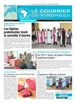 Les Dépêches de Brazzaville : Édition le courrier de kinshasa du 21 février 2019