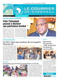 Les Dépêches de Brazzaville : Édition le courrier de kinshasa du 22 février 2019
