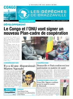 Les Dépêches de Brazzaville : Édition brazzaville du 18 mars 2019