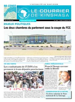 Les Dépêches de Brazzaville : Édition le courrier de kinshasa du 18 mars 2019