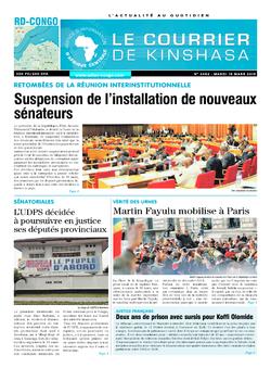 Les Dépêches de Brazzaville : Édition le courrier de kinshasa du 19 mars 2019