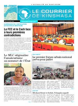 Les Dépêches de Brazzaville : Édition le courrier de kinshasa du 20 mars 2019