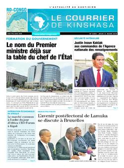 Les Dépêches de Brazzaville : Édition le courrier de kinshasa du 21 mars 2019