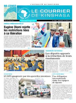 Les Dépêches de Brazzaville : Édition le courrier de kinshasa du 22 mars 2019