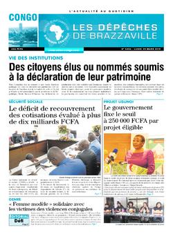 Les Dépêches de Brazzaville : Édition brazzaville du 25 mars 2019