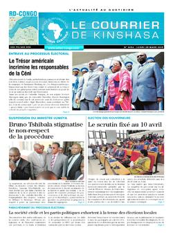 Les Dépêches de Brazzaville : Édition le courrier de kinshasa du 25 mars 2019