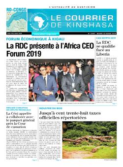 Les Dépêches de Brazzaville : Édition le courrier de kinshasa du 26 mars 2019