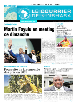 Les Dépêches de Brazzaville : Édition le courrier de kinshasa du 26 avril 2019