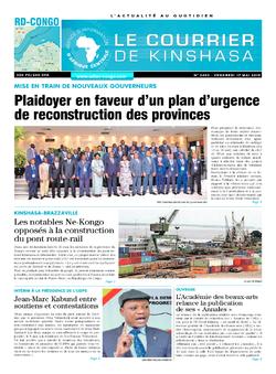 Les Dépêches de Brazzaville : Édition le courrier de kinshasa du 17 mai 2019