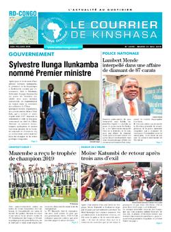 Les Dépêches de Brazzaville : Édition le courrier de kinshasa du 21 mai 2019