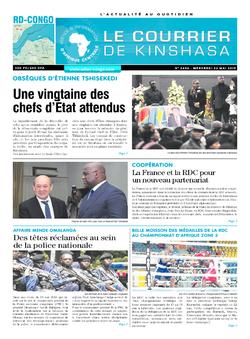 Les Dépêches de Brazzaville : Édition le courrier de kinshasa du 22 mai 2019