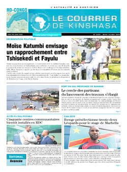 Les Dépêches de Brazzaville : Édition le courrier de kinshasa du 23 mai 2019