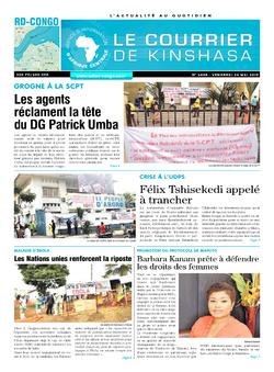 Les Dépêches de Brazzaville : Édition le courrier de kinshasa du 25 mai 2019
