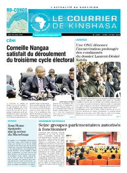 Les Dépêches de Brazzaville : Édition le courrier de kinshasa du 27 mai 2019