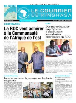 Les Dépêches de Brazzaville : Édition le courrier de kinshasa du 14 juin 2019