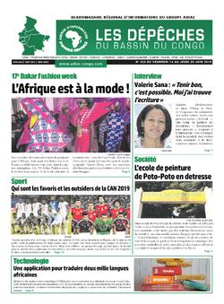 Les Dépêches de Brazzaville : Édition du 6e jour du 15 juin 2019