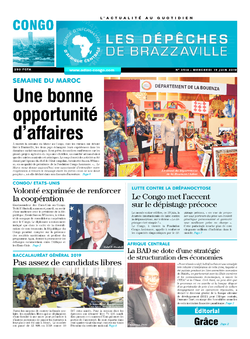 Les Dépêches de Brazzaville : Édition brazzaville du 19 juin 2019