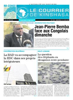 Les Dépêches de Brazzaville : Édition le courrier de kinshasa du 19 juin 2019