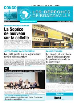 Les Dépêches de Brazzaville : Édition brazzaville du 20 juin 2019