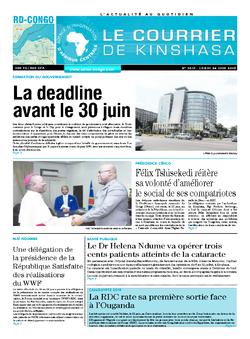 Les Dépêches de Brazzaville : Édition le courrier de kinshasa du 24 juin 2019