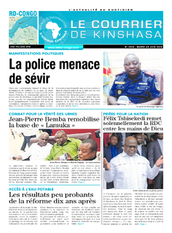 Les Dépêches de Brazzaville : Édition le courrier de kinshasa du 25 juin 2019