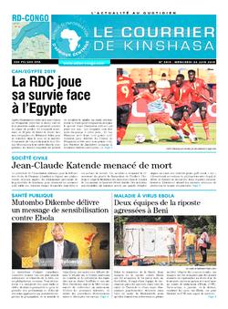 Les Dépêches de Brazzaville : Édition le courrier de kinshasa du 26 juin 2019