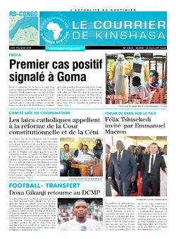 Les Dépêches de Brazzaville : Édition le courrier de kinshasa du 16 juillet 2019