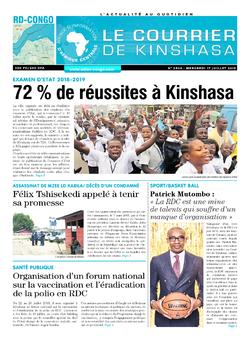 Les Dépêches de Brazzaville : Édition le courrier de kinshasa du 17 juillet 2019