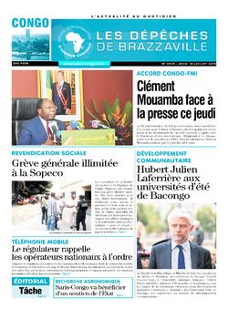 Les Dépêches de Brazzaville : Édition brazzaville du 18 juillet 2019