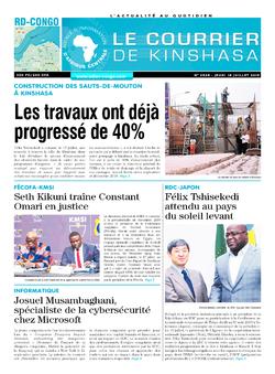 Les Dépêches de Brazzaville : Édition le courrier de kinshasa du 18 juillet 2019