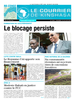 Les Dépêches de Brazzaville : Édition le courrier de kinshasa du 19 juillet 2019