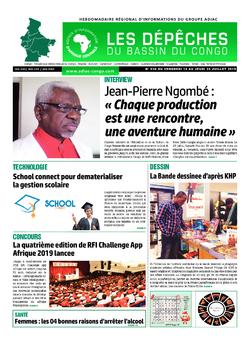 Les Dépêches de Brazzaville : Édition du 6e jour du 20 juillet 2019