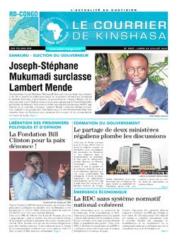 Les Dépêches de Brazzaville : Édition le courrier de kinshasa du 22 juillet 2019