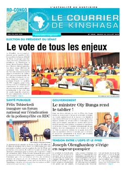 Les Dépêches de Brazzaville : Édition le courrier de kinshasa du 23 juillet 2019