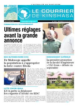 Les Dépêches de Brazzaville : Édition le courrier de kinshasa du 24 juillet 2019