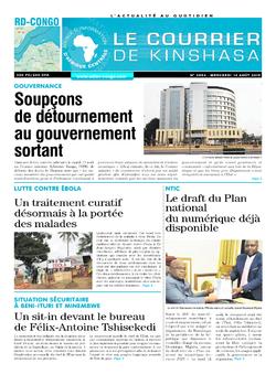 Les Dépêches de Brazzaville : Édition le courrier de kinshasa du 14 août 2019