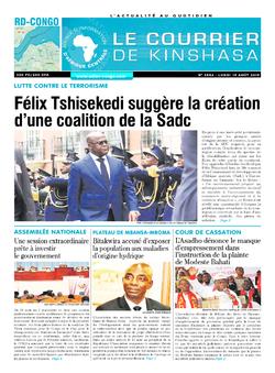 Les Dépêches de Brazzaville : Édition le courrier de kinshasa du 19 août 2019