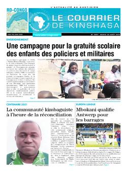 Les Dépêches de Brazzaville : Édition le courrier de kinshasa du 20 août 2019