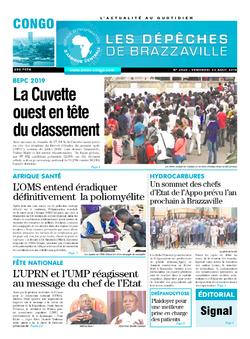 Les Dépêches de Brazzaville : Édition brazzaville du 23 août 2019