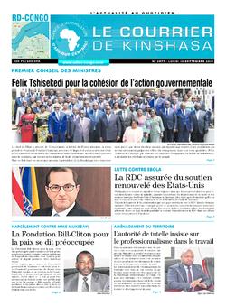 Les Dépêches de Brazzaville : Édition le courrier de kinshasa du 16 septembre 2019