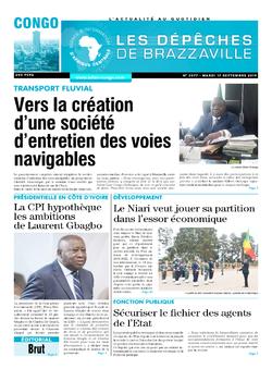 Les Dépêches de Brazzaville : Édition brazzaville du 17 septembre 2019