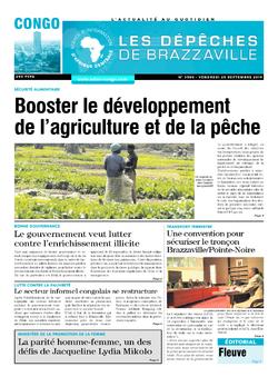 Les Dépêches de Brazzaville : Édition brazzaville du 20 septembre 2019
